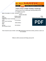 join fhsa math club holiday challenge