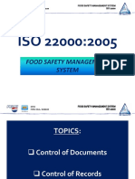ISO 22000 - Control of Documents and Records