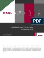 FEMSA Overview Septiembre 2016 ESP