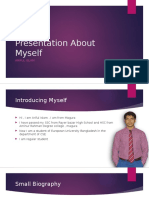 Presentation About Myself