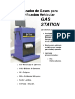 Analizador de Gases Para Verificación Vehicular
