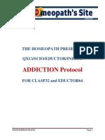 Addiction Protocols for Scio, Qxci, Indigo and Eductor