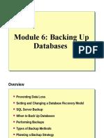 06. Backing Up Databases