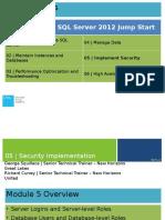 Administering Microsoft SQL Server 2012 Databases Jumpstart-Mod 5_final