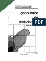 Geoquimica de Prospeccion - Peralta