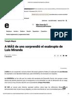 25-11-16 A MÁS de uno sorprendió el exabrupto de Luis Miranda