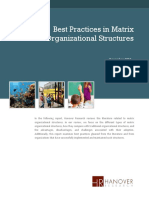 Best Practices in Matrix Organizational Structures