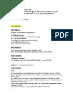 Programa de actividades del Coloquio de Homenaje a Bolívar Echeverría