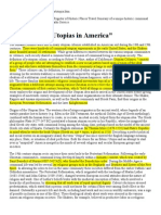 NPS. Utopias in America