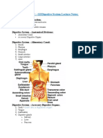 A&P 302 GI:Digestive System Lecture Notes