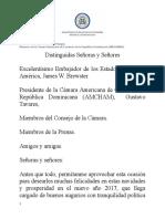 """Disertación del Canciller Miguel Vargas """"Una Cancillería de los Nuevos Tiempos"""""""