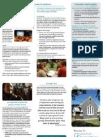 Orientation Brochure for Churches