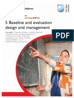 5 Baseline and Evaluation Design Management
