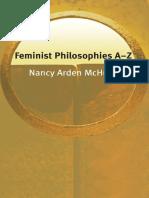 Nancy Arden McHugh - Feminist Philosophies a-Z