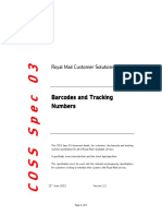 COSS Spec 03 - Barcodes and Tracking Numbers v1 1