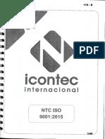 NTC ISO 9001-2015 Sistemas de Gestión de La Calidad. Requisitos