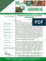 Consideraciones en El Uso Eficiente de Nutrientes