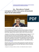 Increderea Uniunii Europene in RM a Fost Serios Zdruncinata Dupa Furtul Miliardului