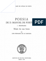 A Poesia de Dom Manuel de Portugal