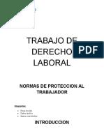 Derecho Laboral. Normas de protección al Trabajador