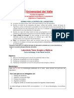 Lab Oratorio Matrices 2016