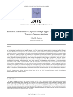 Estimation of Performance Airspeeds for High-Bypass Turbofans Equ