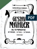 Mahler 3 score