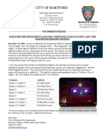 Press Release for Hartford Fire Department Tour of Lights