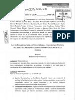 Desarrollo Artículo 149 Constitución- PL 201773-2016-CR
