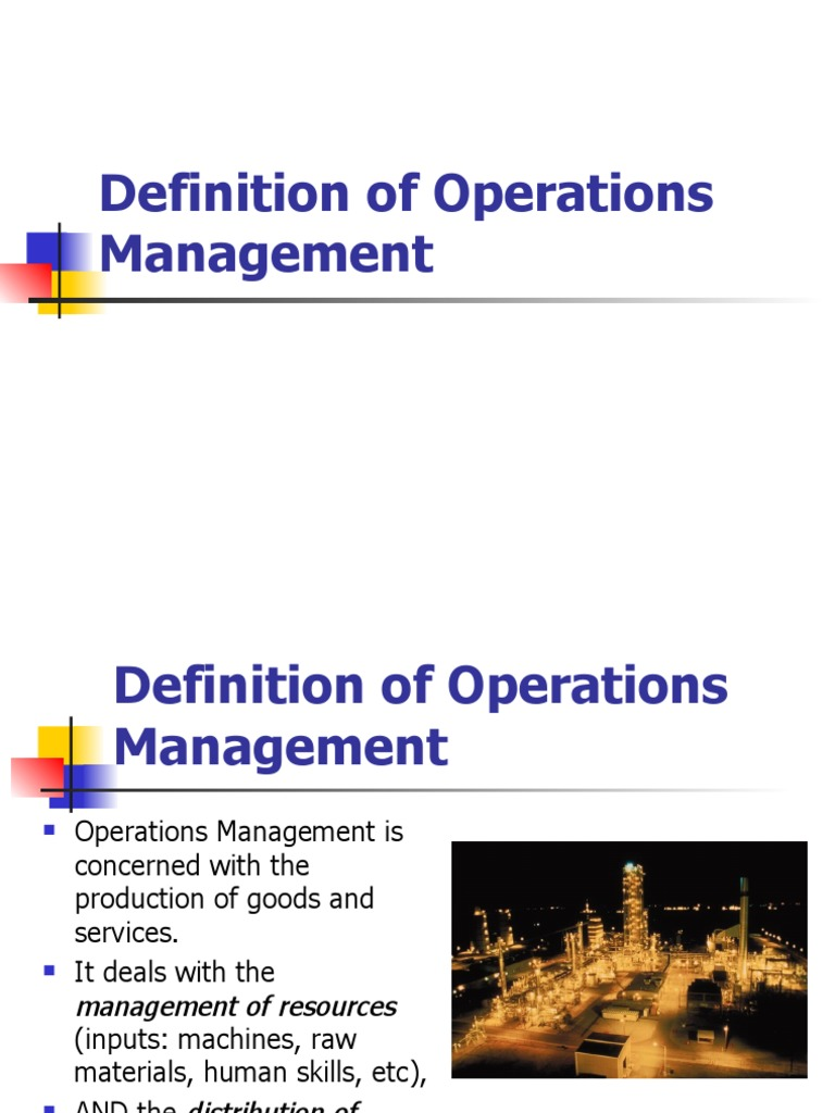 operations management | operations management | prices
