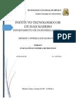 Unidad 3 Sintesis y Optimización de Procesos