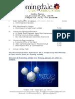 Bloomingdale Civic Association Meeting Agenda 2016 12 19