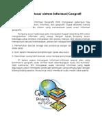 Konsep Dasar Sistem Informasi Geografi