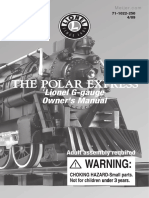Lionel G-Gauge Train Set Polar Express Manual