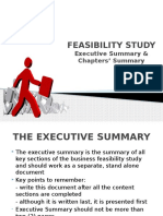 Feasibility Study - Executive Summary & Chapters Summary