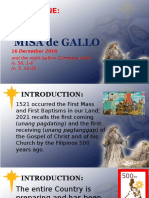 Day 1 - Misa de Gallo Homily