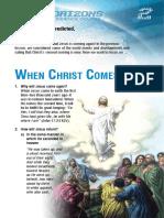 When Christ Comes!