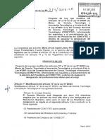 Proyecto de Ley CONCYTEC L0021420160906..