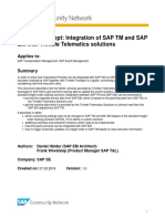 Proof of Concept Integration of SAP TM and SAP EM With Trimble Telematics Solutions