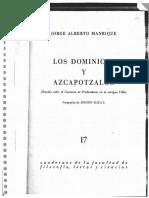 MANRIQUE_Los Dominicos y Azcapotzalco