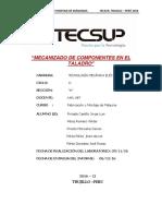 Informe 8 Mecanizado de Componentes en El Taladro