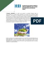 Estimacion de Riesgo Sobre El Impacto Ambiental