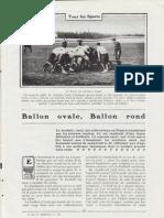 "Fernand Bidault - ""Ballon Ovale"" (Rugby) - Je Sais Tout - Fev 1908 - 9 Pages"