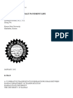 Estimation of Asphalt Pavement Life