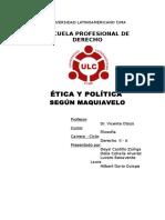 Etica y Politica Segun Maquiavelo