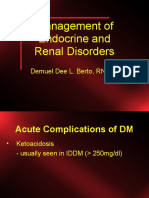 Management of Endocrine and Renal Disorders