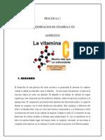 Determinacion de Vit c en Alimentos77