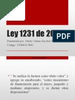 Ley 1231 de 2008