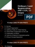Original Registration 13 Steps - Land Titles