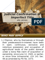 Land Titles - Judicial Confirmation of Imperfect TItle-Orig Reg Steps